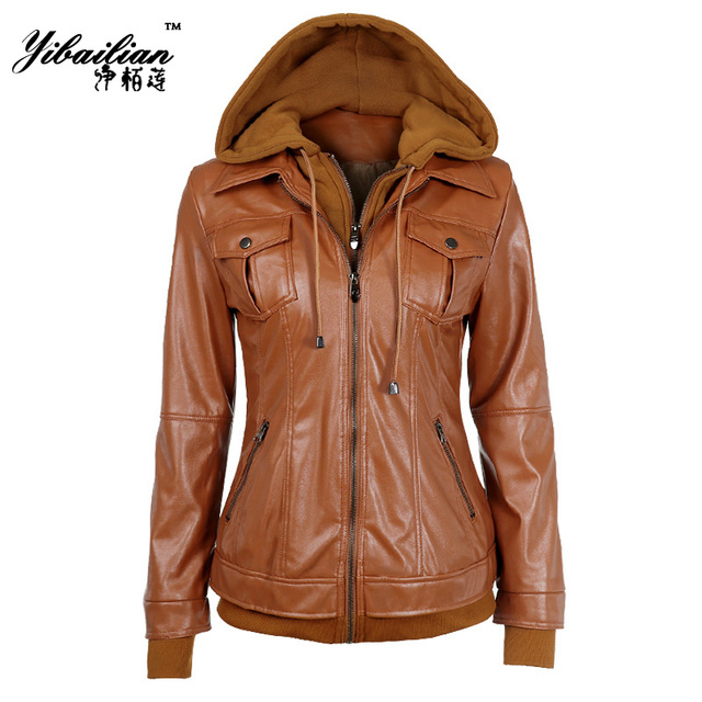 Fashion Autumn Winter Women Faux Soft Leather Jackets Black,Coffee ...