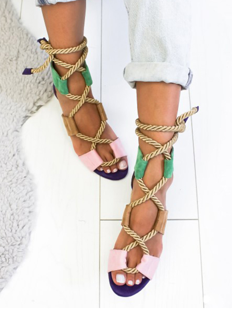 Women Sandals 2019 Women Heels Shoes For Gladiator Sandals Women High Heels Summer Shoes Woman Lace Up Peep Toe Chaussures Femme