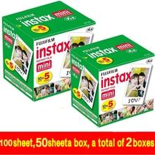 100 blatt Fujifilm Fuji Instax Mini 8 film für Fujifilm Instant-Mini 7 s 25 50 s 90 Kamera Fuji Instax Weißen Rand Foto film Papier