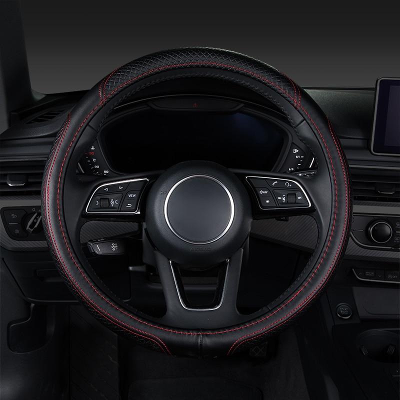 Car steering wheel cover,auto accessories for audi a5 sportback a6 c5 c5 avant c6 c6 avant c7 allroad c5 аксессуары для телефонов ems dhl c5 nemo c5