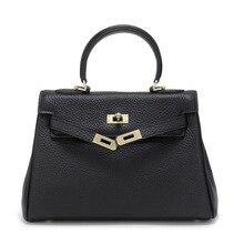 Factory Outlet Fashion new designer women handbags high quality Genuine Leather embossed lychee women's shoulder bag все цены