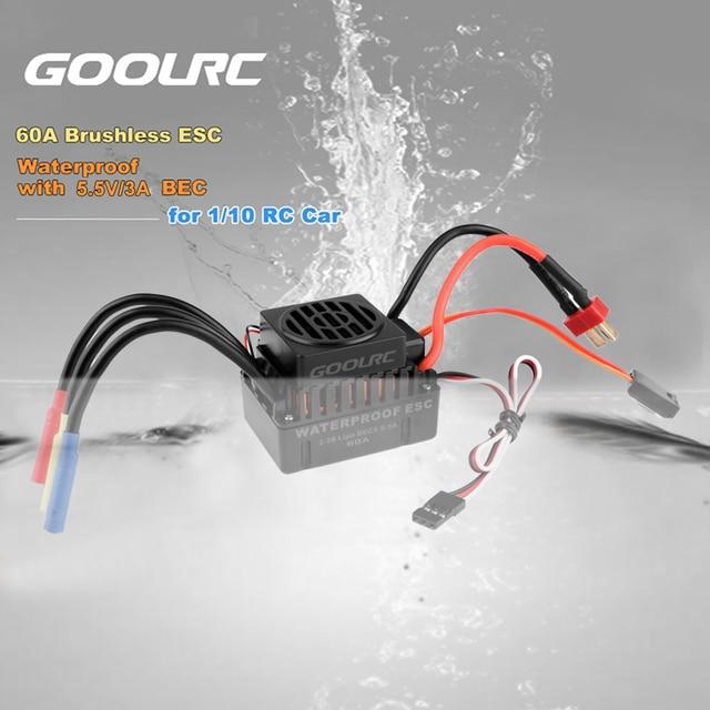 GoolRC impermeable 45A 60A RC sin escobillas ESC BEC piezas de coche eléctrico con controlador de velocidad 5,8 V 3A BEC para 1/10 RC coche camión