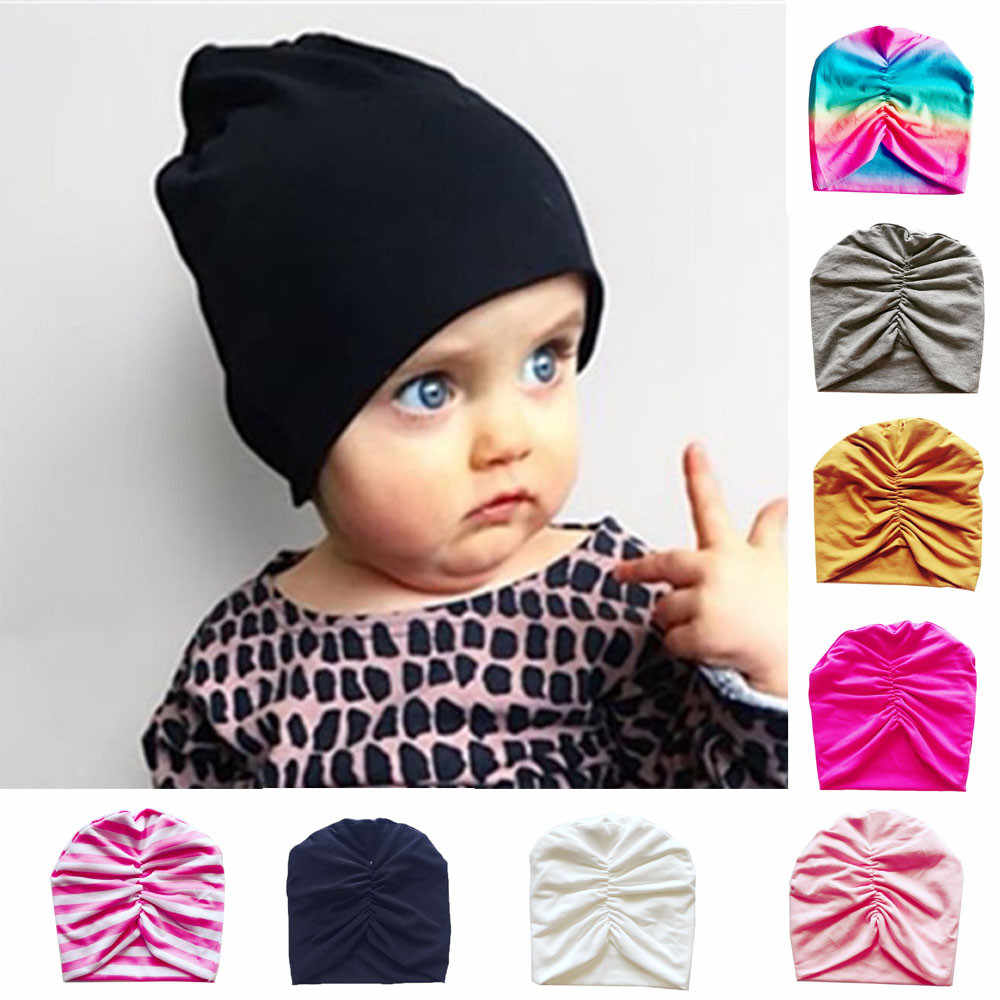 6c29abf8a0c 1Pc Newborn Baby Hats Toddler Kids Baby Pleated Indian Hat Boy Girl Turban  Beanie Hat Autumn