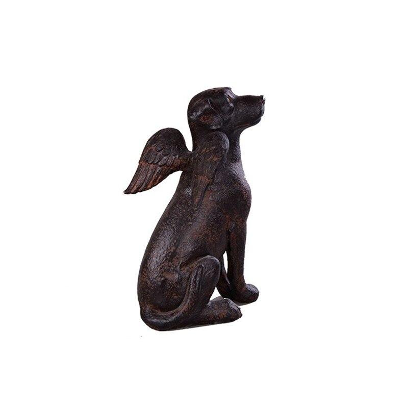 Résine ange chien Figurines Miniature artisanat créatif ange chien Sculpture Statue bureau décor à la maison affaires mariage cadeaux L3420