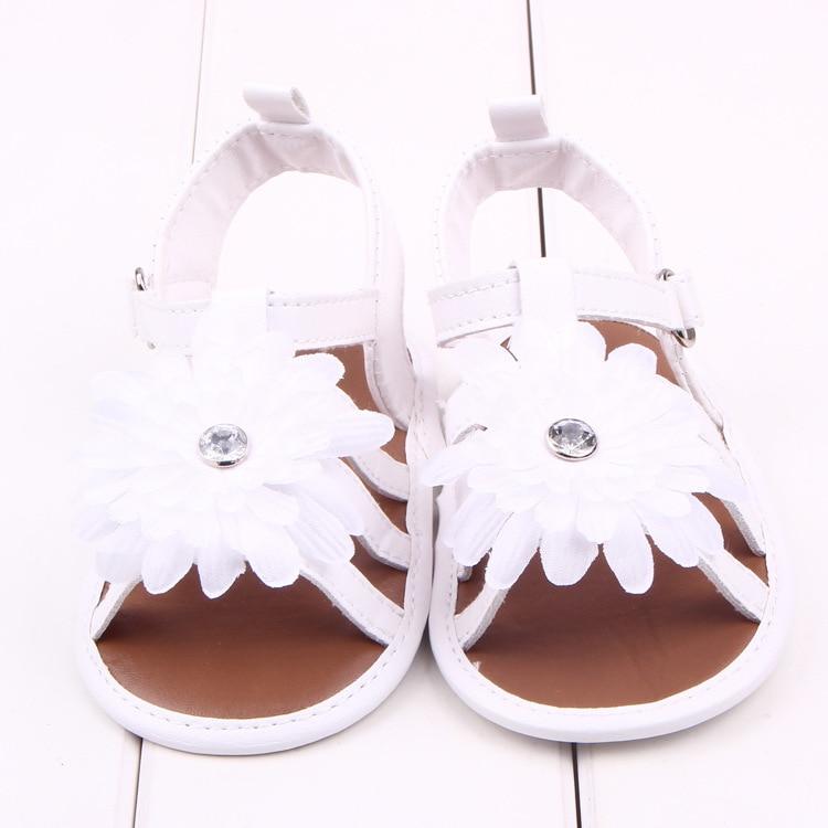 1 Para Sommer Baby Schuhe Neugeborenen Kinder Große Blume Erste Wanderer Antislip Kind PU Leder Säuglingskleinkind Bebe Sapatos Dropship