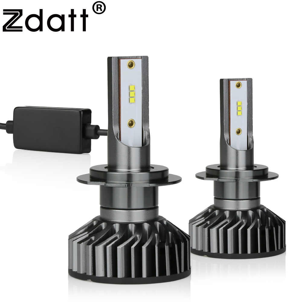 Zdatt H7 H4 H11 H1 9005 9005 HB3 LED Canbus Headlight Bulb Car Light 12000LM 100W 6000K 12V 24V Auto Led Lamp Automobile