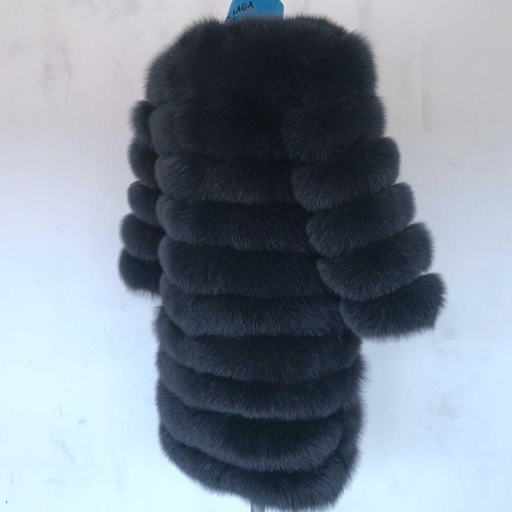 2018 di Volpe Naturale cappotto di Pelliccia reale naturale Delle Donne di Inverno Genuino di Volpe naturale cappotto di Pelliccia con Pelliccia della maglia della ragazza delle donne del Cappotto gilet di volpe cappotto