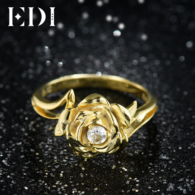 Edi Gorgeous 3mm Natural Diamond Wedding Rings Real 14k 585 White Rose Gold Moissanite Jewelry For