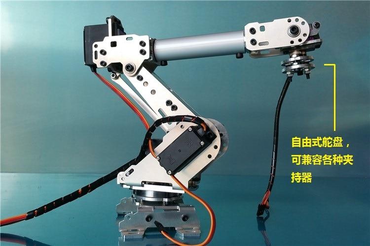 Robot Industri A688 Lengan Mekanik 100% Paduan Manipulator 6-Axis Robot arm Rack dengan 6 Servos