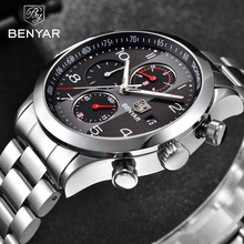 Benyar relógio masculino de pulso, homens top marca de luxo militar cronógrafo à prova d água relógio masculino esporte relógio de pulso 5133