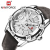 NAVIFORCE Top Brand Luxury Men S Casual Sport Quartz Watch Mens Watches Quartz Watch Leather Strap