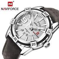 NAVIFORCE Top Brand Luxury Men S Casual Sport Quartz Watch Mens Watches Quartz Watch Leather Strap