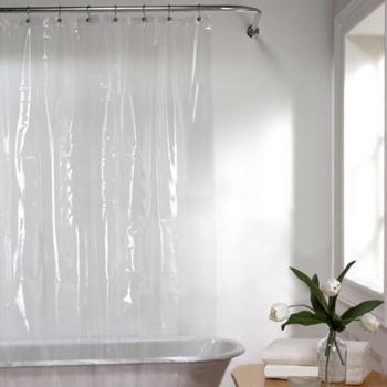 PENA Moldproof Waterproof Shower Curtain Bathroom Bath Eco-Friendly Transparent White Clear Products