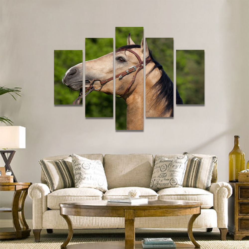 Unframed Canvas Animal Painting Horse Racecourse Prints Wall Picture For Living Room Wall Art Decoration Dropshipping