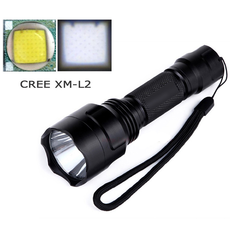 led flashlight tactical cree xm l2 t6 flash light self defense torch search linterna for hunting 18650Battery waterproof zaklamp