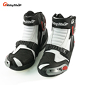 New Motorcycle short Boots Riding Tribe SPEED Moto Racing Motocross Motorbike boots Black/White/Red  A009 shoes