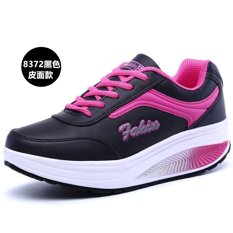 YeddaMavis Running Shoes Black Women Shoes Women Sneakers New Thick Bottom Lace Up Mesh Shoes Women Shoes Woman Zapatos De Mujer in Women 39 s Vulcanize Shoes from Shoes