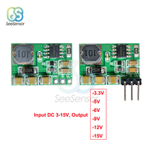 DC-DC +/- Voltage Converter Positive to Negative Step Down Power Supply Boost-Buck Module 3-15V to -3.3v -5V -6V -9V -12V -15V цена