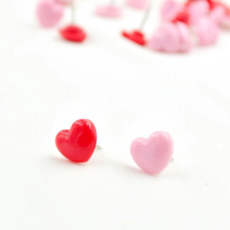 Office & School Supplies 50pcs Mini Pink Red Heart Push Pins Cute Heart-shaped Push Pin Thumbtack For School Office Supplies Kids Decorative Drawing Pins