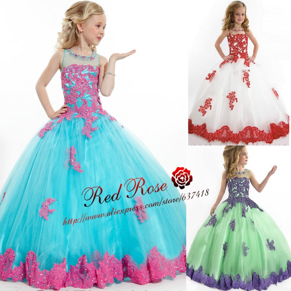Aliexpress.com : Buy Ball Gown Flower Girl Dress Girls Pageant ...
