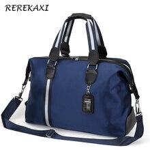 REREKAXI, Большая вместительная мужская дорожная сумка, Женская водонепроницаемая нейлоновая сумка для ручной клади, многофункциональные дорожные сумки для путешествий, упаковочные кубики