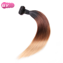 BY Malaysian Pre-Colored Raw Straight Hair 1B-4-27 Color One Piece Non-Remy Human Hair 12-24 inch For Salon Hair Extension