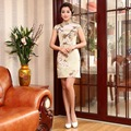 Elegant Cheongsam Chinese Traditional Dress Vestido  Summer  Female High Neck Qipao Unique Party Evening Dresses