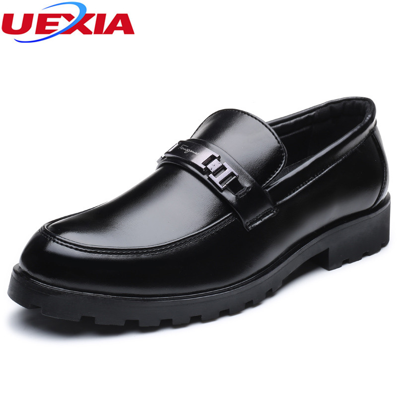 UEXIA Business Men Basic Casual Shoes Leather Design High Quality Flats Casual New Shoes Men Oxford Fashion Lace-Up Dress Work men shoes tide shoes casual fashion oxford business men shoes leather high quality soft casual breathable men s flats man shoes
