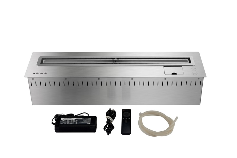 31 Inch L Remote Control Intellgent Silver Or Black Bio Ethanol Realistic Electric Fireplaces