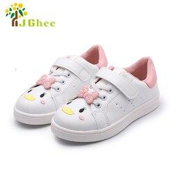 Cartoon białe buty dla dziewczynek dzieci trampki sportowe buty do biegania dzieci buty szkolne z Cute Bow-knot brezentowych butów