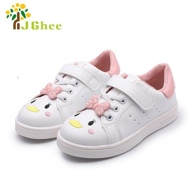 1a5eff90 Zapatos blancos de dibujos animados para niñas niños zapatillas de deporte zapatillas  deportivas zapatos escolares para