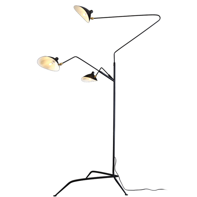 Moderne Einfache LED Stehleuchte 3 Arm Nachttisch Schwarz/weiß Körper E14 3  Watt Led