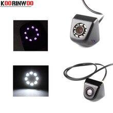 Koorinwoo HD CCD Auto Videocamera vista posteriore Anteriore Cam Specchio Immagine 170 Gradi Impermeabile Nero Auto di Assistenza Al Parcheggio Reverse Cam Per Auto