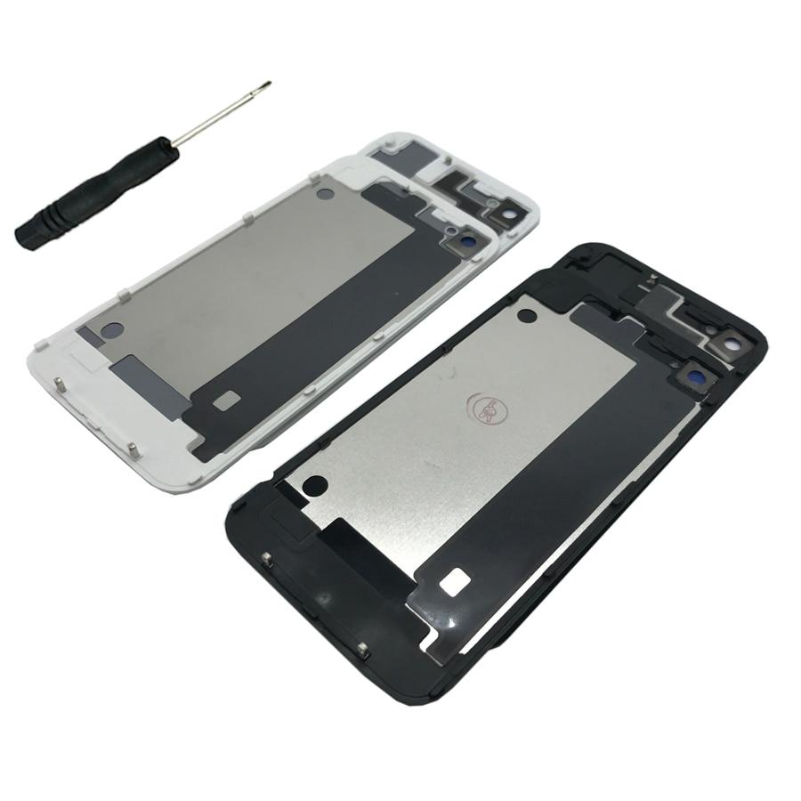 Cases Housing-Battery Back-Cover Phone-Glass Door 4 4S Apple for Genuine Tool