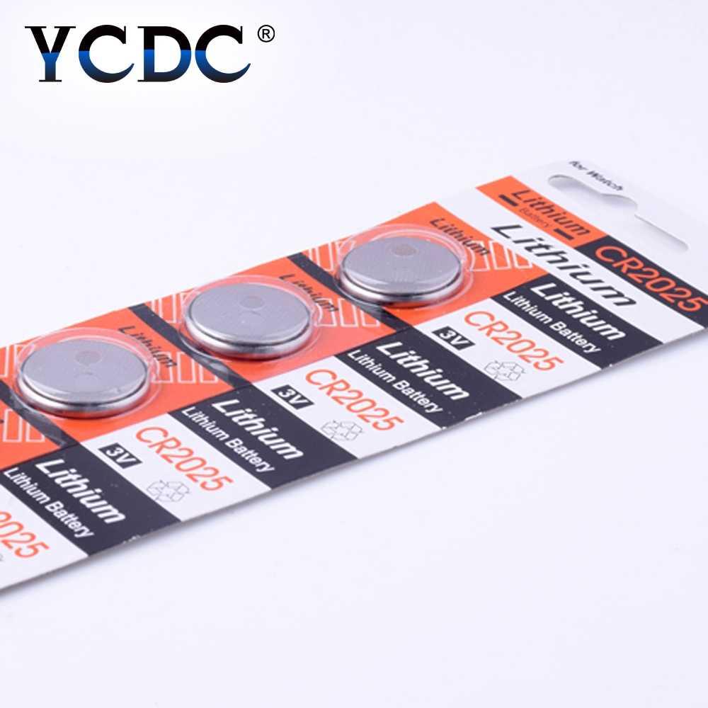 CR2025 5 sztuk/paczka baterie guzikowe DL2025 BR2025 KCR2025 komórki bateria litowa 3V CR 2025 na zegarek elektroniczna zabawka pilot zdalnego