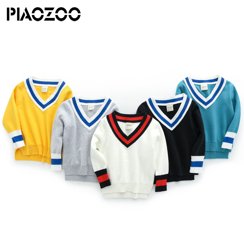 2018 new arrival v neck sweater boy jumpers Pullovers elastic sweater long sleeve knitted top winter baby knit pullovers P30 цена