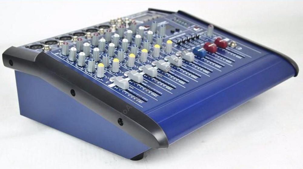 pro blue 1000w 6 channel mixing console power amplifier live studio audio mixers mixer 220 240v. Black Bedroom Furniture Sets. Home Design Ideas