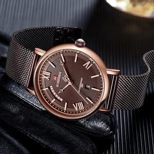 Image 4 - NAVIFORCE Watch Men Fashion Business Watches Mens Casual Waterproof Quartz Wristwatch Stainless Steel Mesh Relogio Masculino