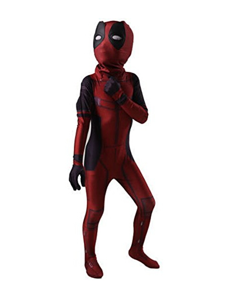 Toddler Kid's Halloween Costume Deadpool Jumpsuit 3D Printed Full Bodysuit Cosplay Costume Outfit