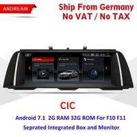 10,25 Android Экран ID6 Интерфейс мультимедийный плеер для серии BMW 5 F10 F11 gps навигации EW964B CIC