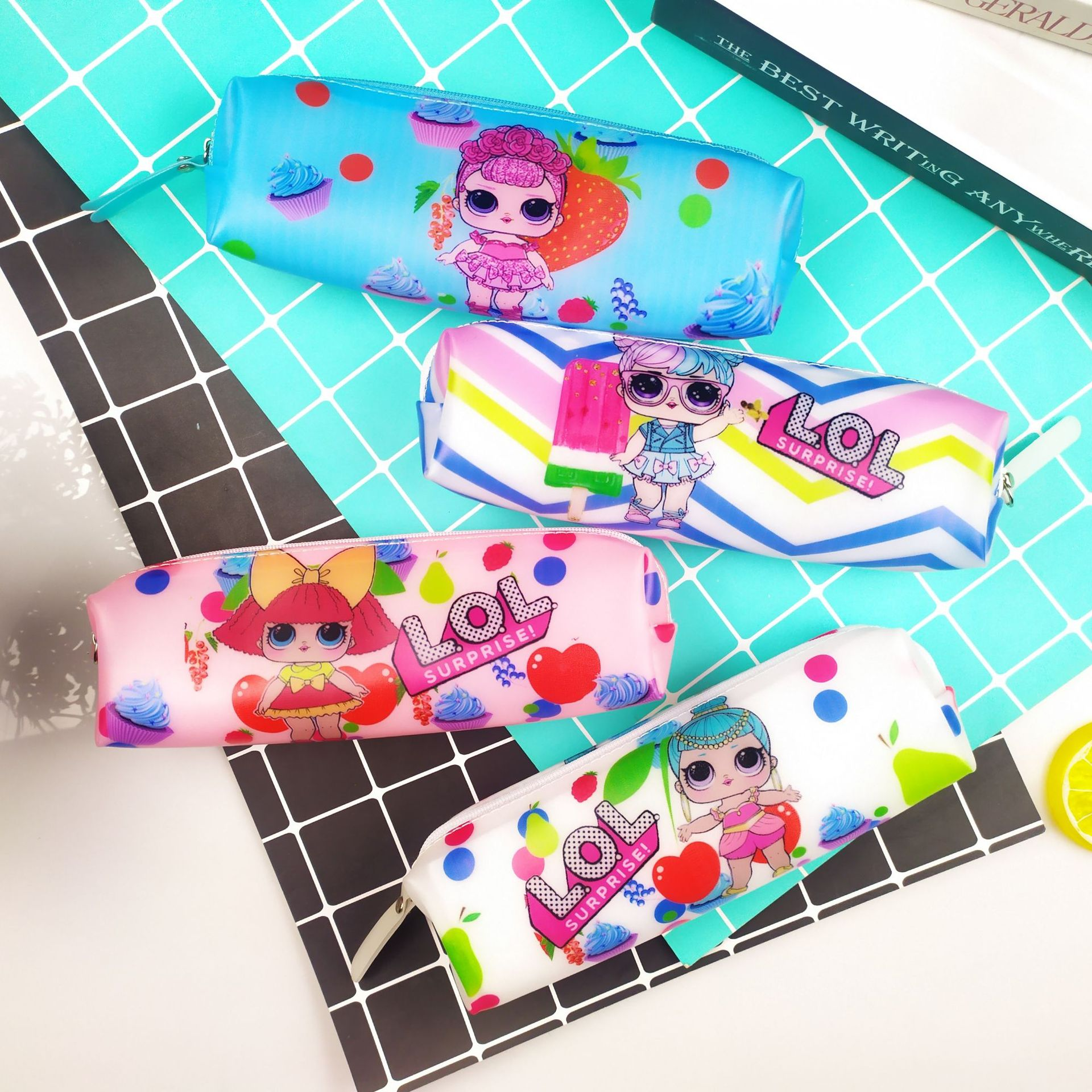 Surprise Doll Pencil Case For Girls Cute Large Capacity Pencil Bag Pen Box Stationery Pouch Office School Supplies Escolar