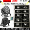 10pcs Remote Control 12x12W Led Par Lights RGBW 4in1 Flat Par Led Dmx512 Disco Lights Stage