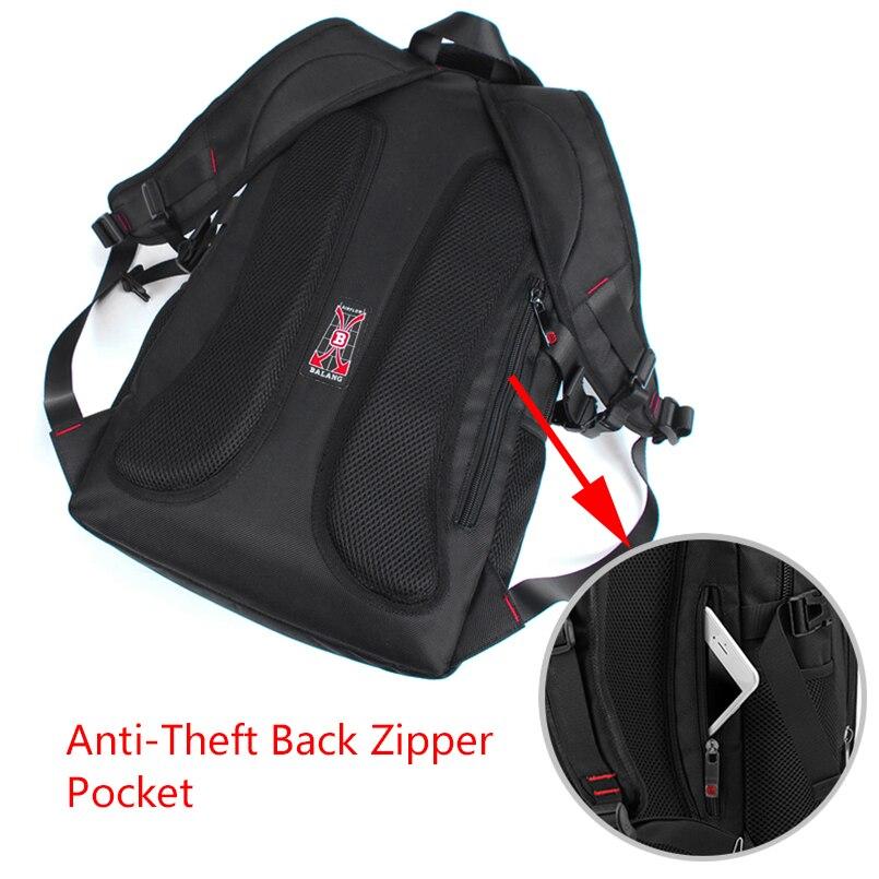 BALANG marque 2019 nouveaux sacs à dos décontractés pour hommes étanche 15.6 pouces sac à dos pour ordinateur portable USB grande capacité sac à dos scolaire pour les garçons - 3