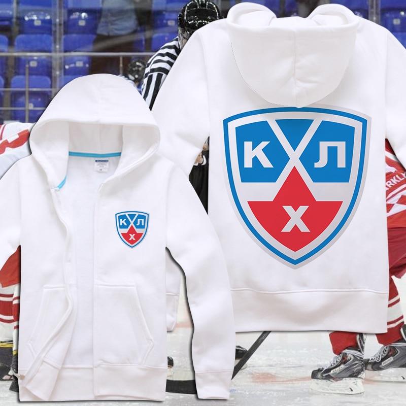 Sweat à capuche pour homme KHL sweat Lokomotiv Yaroslavl Ak Bars Kazan Dinamo Riga moscou Club Cool veste zippée manteau à capuche