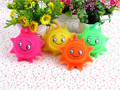 Small sun out children's educational toys Flash ball rubber gifts