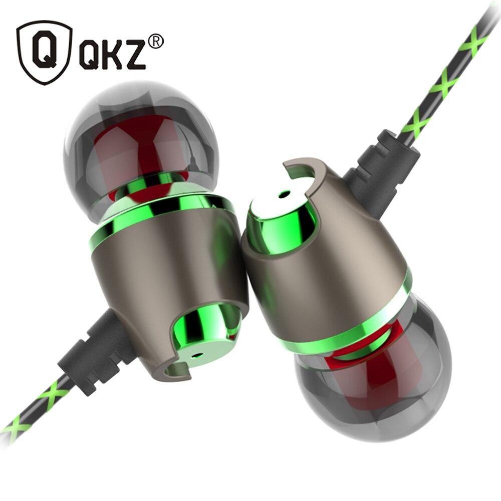 Auricolare qkz dm11 magnetico stereo bass metallo in-ear a cancellazione di rumore cuffie dj in ear auricolari stereo telefono dell'orecchio