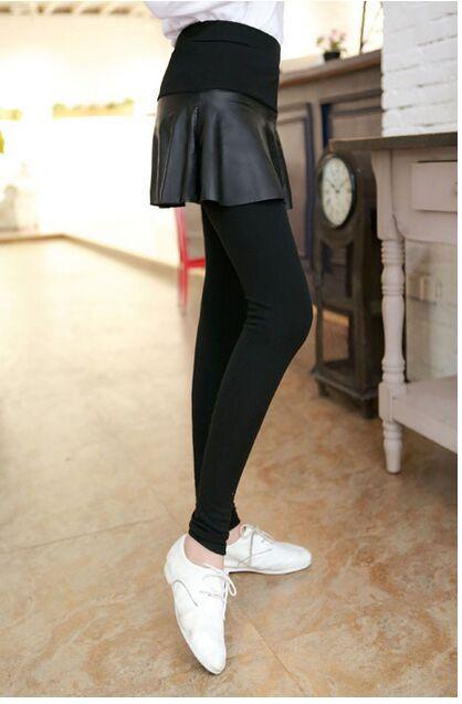 pu skirt legging 2