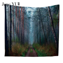 JaneYU Scenery Printing Wall Hippie Tapestry Polyester Fabric Home Wall Decoration 130x150/150x200cm все цены