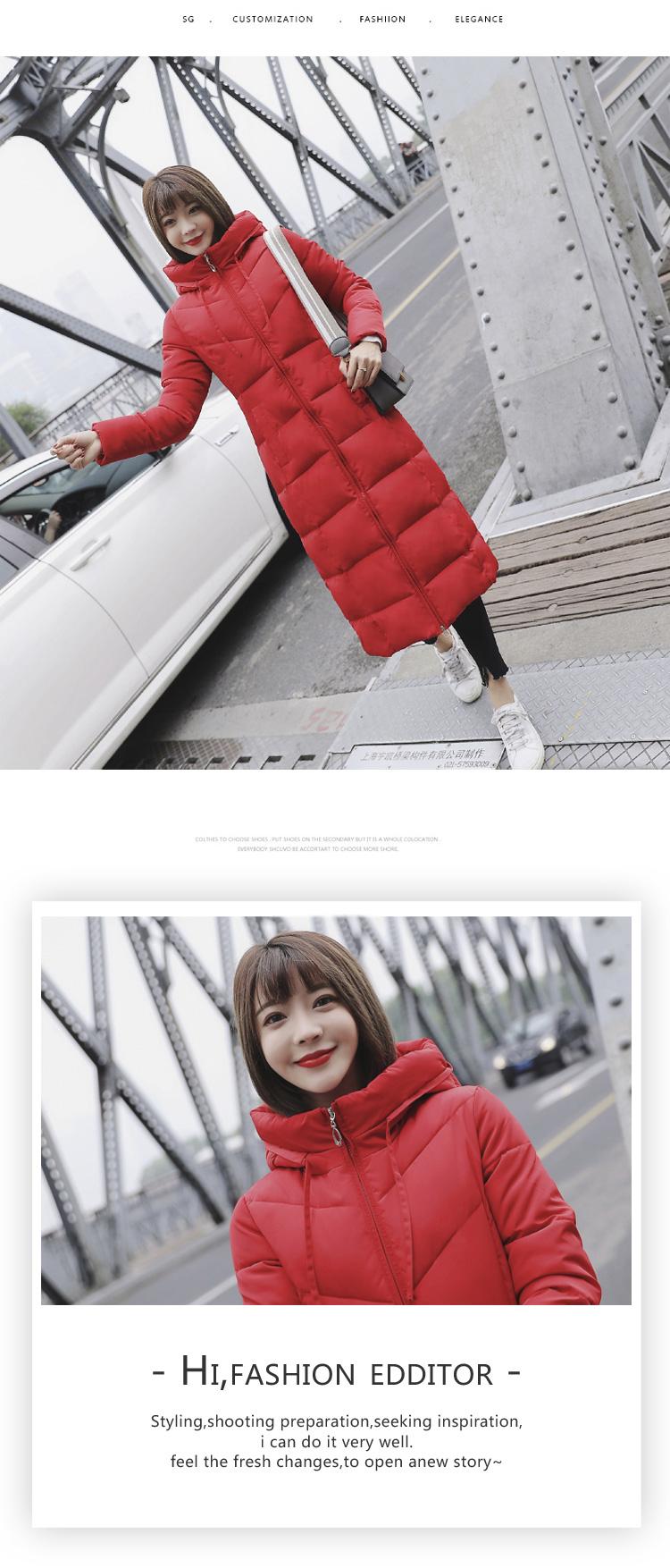 f764ec89171 2019 Plus Size Puffer Jacket Korean Womens Winter Fashion 2018 White ...