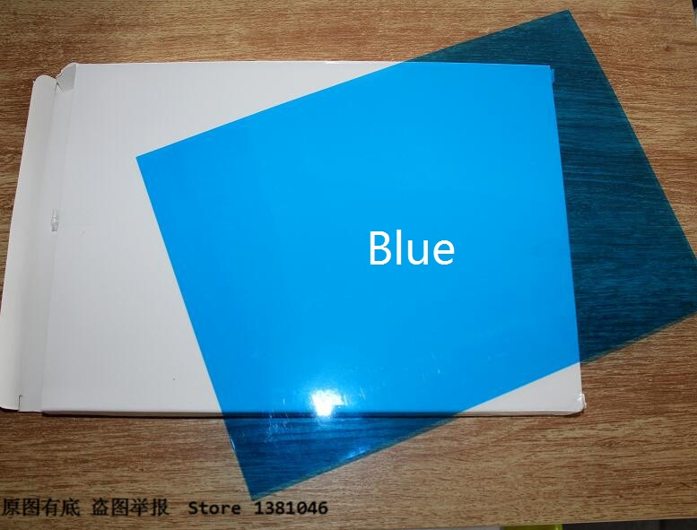 Size A4 Blue Plastic Binding Report Cover Transparent PVC Acetate Sheet 0.2mm Thickness 2/10/30/50pcs You Choose Quantity